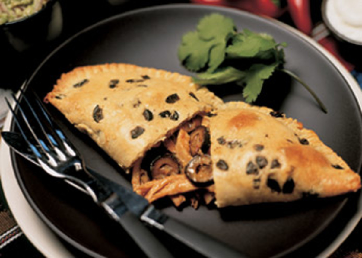 Chipotle Chicken and Olive Empanadas