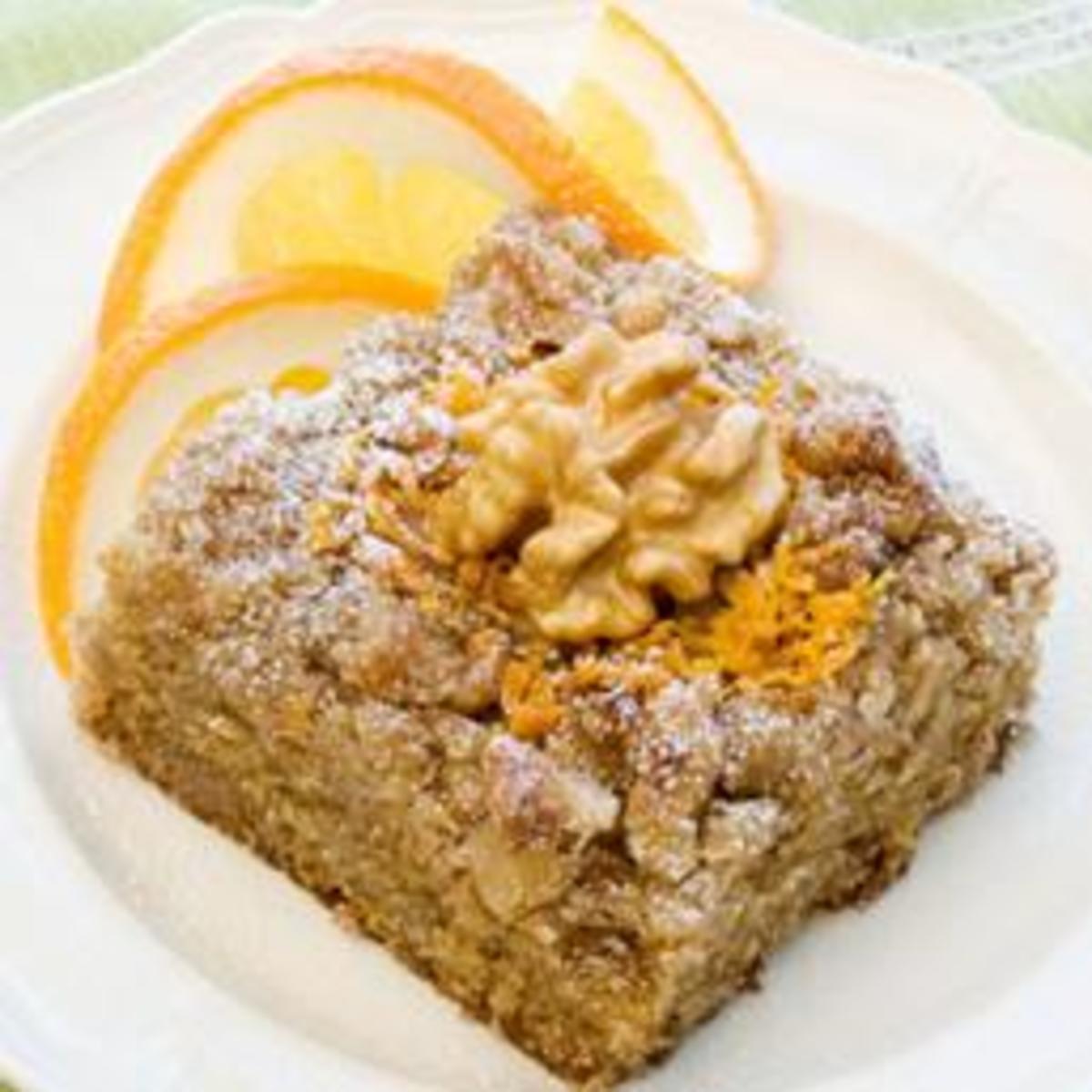 Buttermilk-Walnut Coffee Cake with Orange Essence