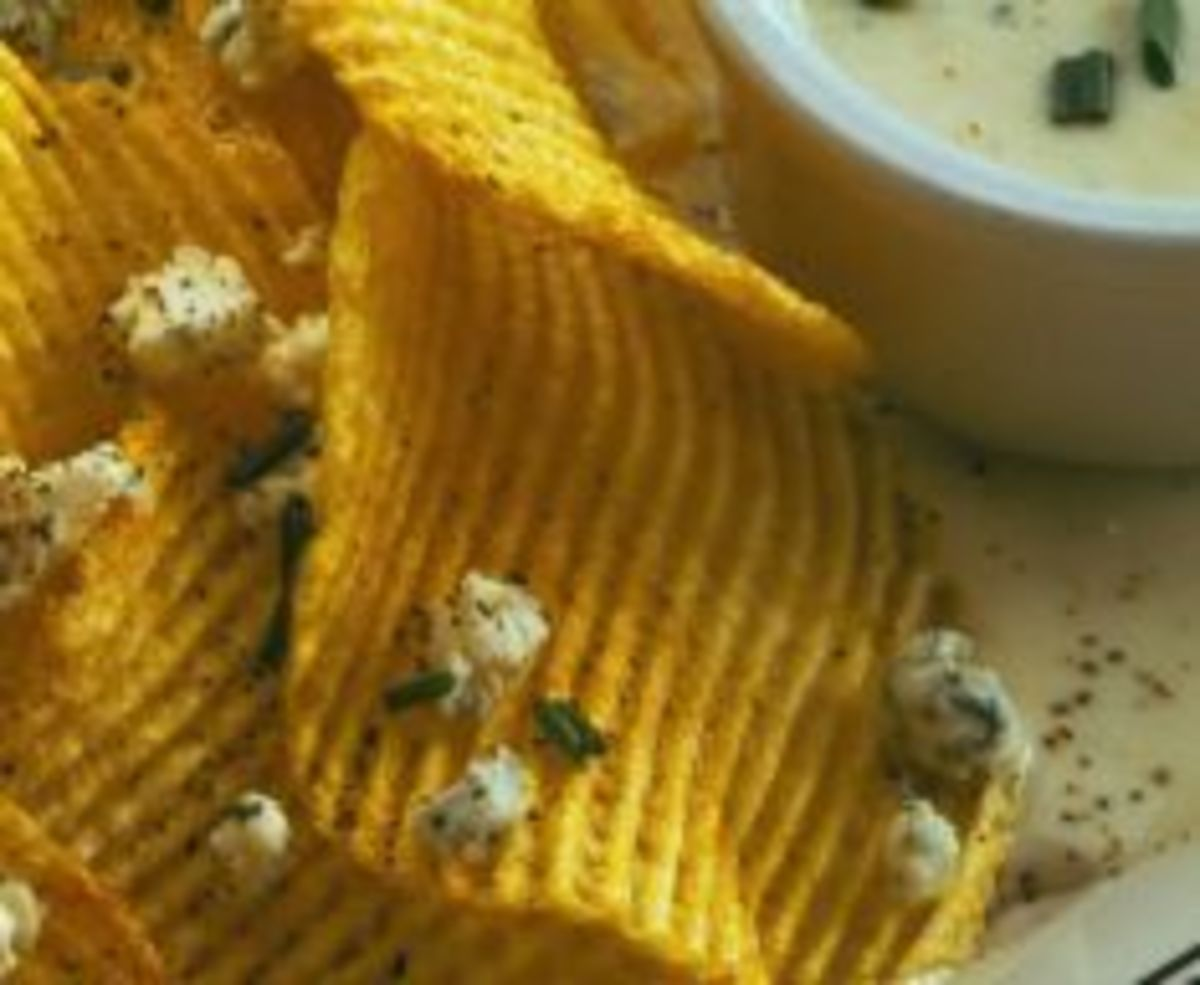 Crisp Potatoes with Gorgonzola