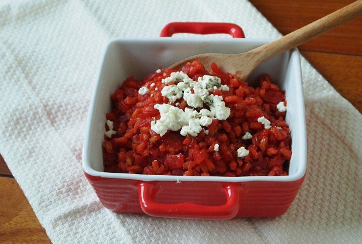 beet-farro-risotto-with-goat-cheese