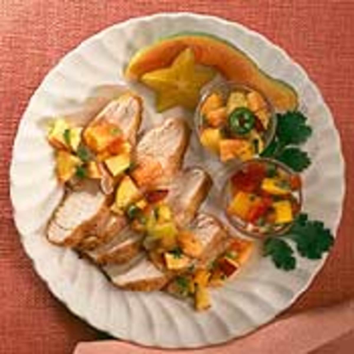 Sauteed Turkey Tenderloins with Fruit Salsas