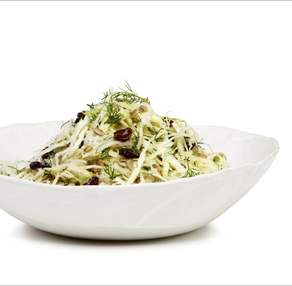 Kohlrabi and cabbage salad