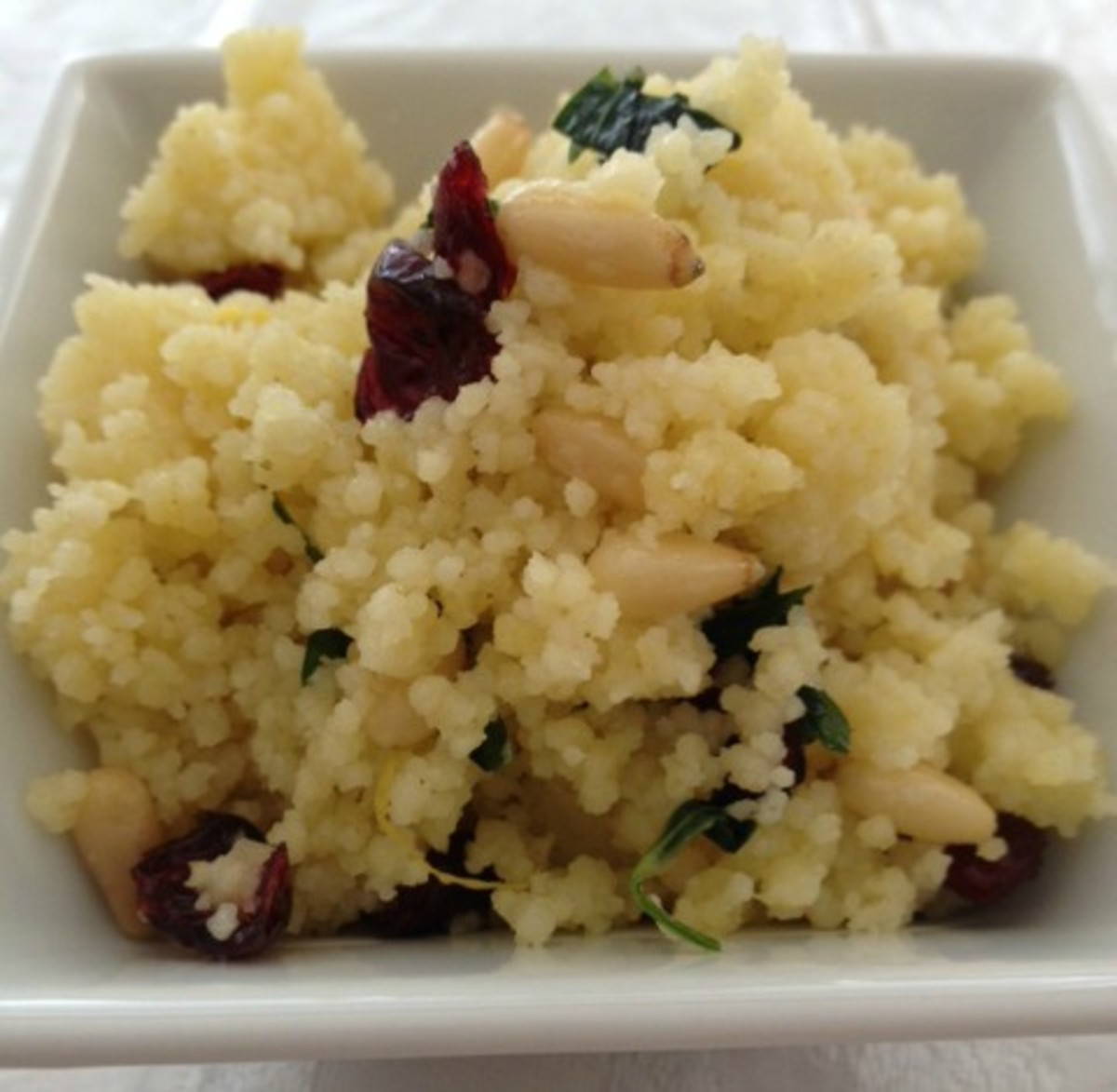 couscous with pine nuts