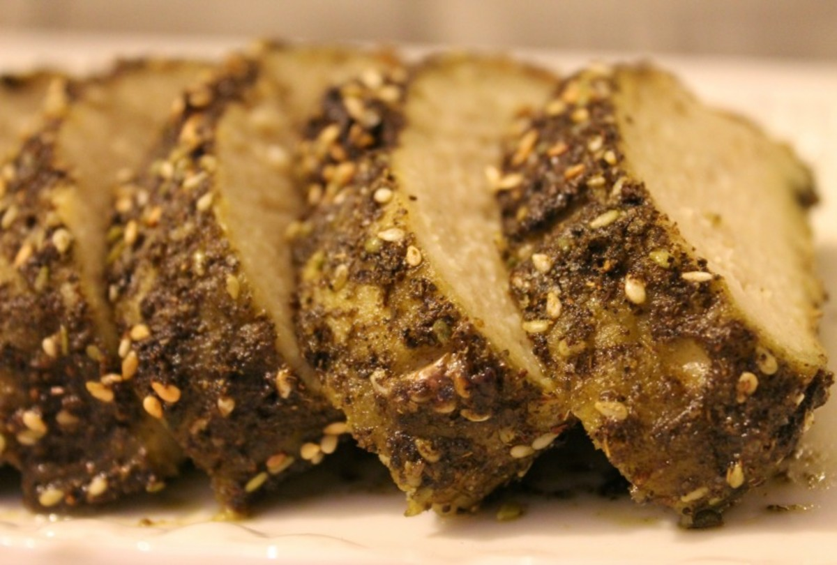 zaatar crusted gefilte fish