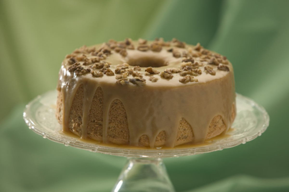 Maple Walnut Chiffon Cake