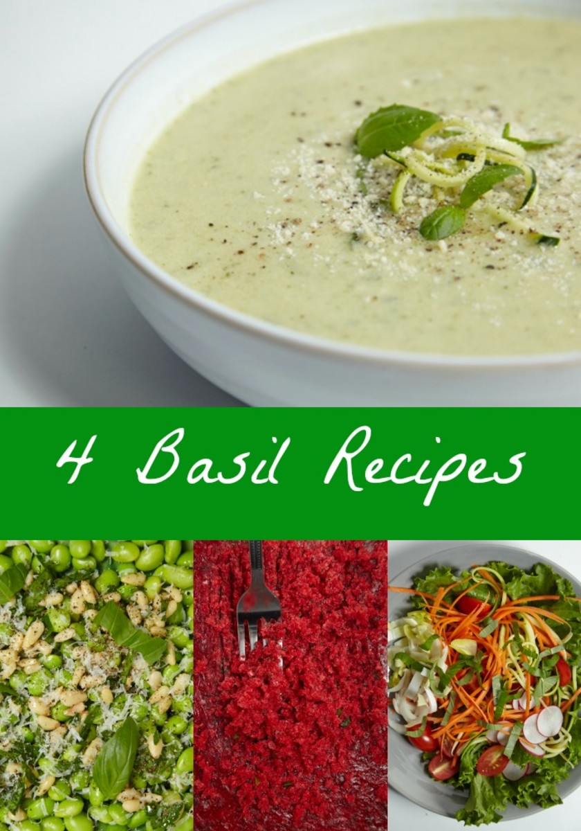 4 Basil Recipes - Learn the best ways to use this fragrant herb in every day cooking
