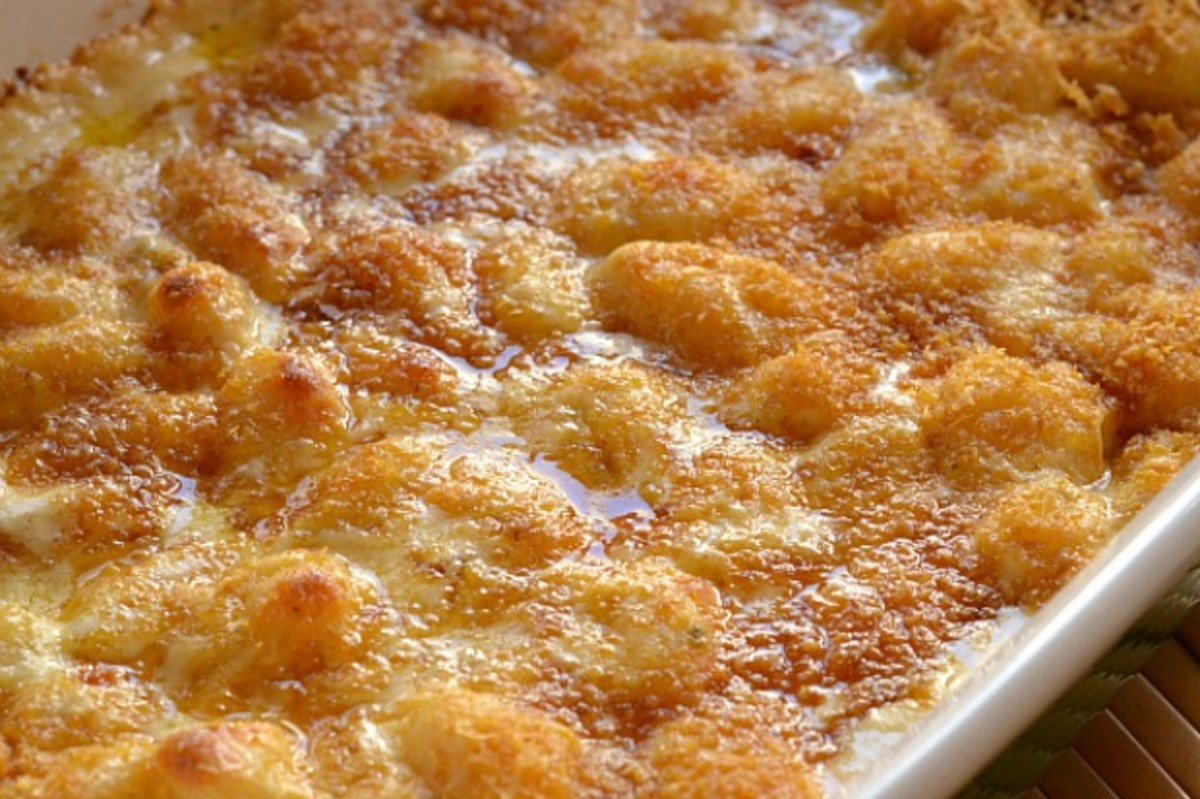 Gnocchi Mac and Cheese Baked