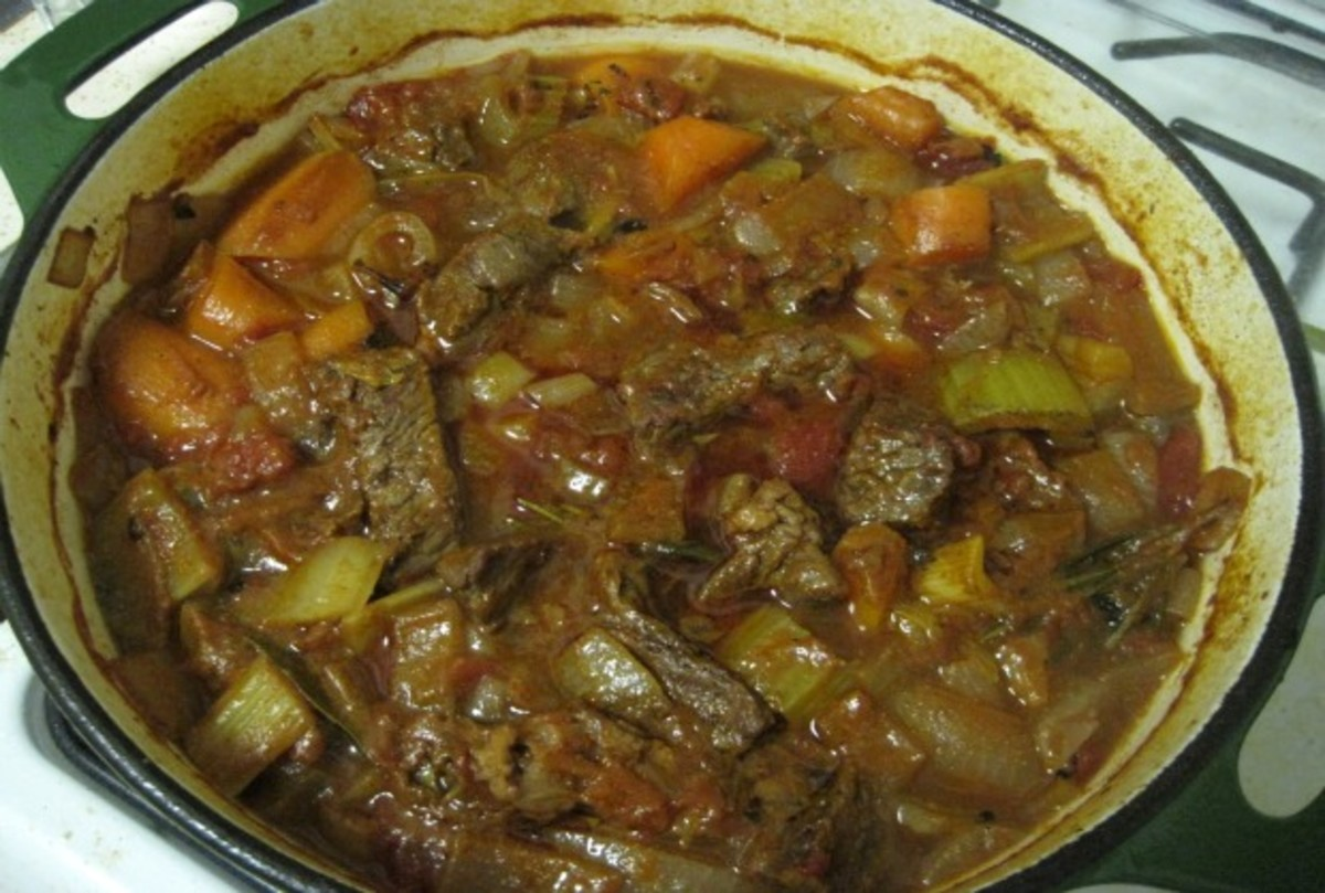 Smoky Rosemary & Fire-Roasted Tomato Beef Stew