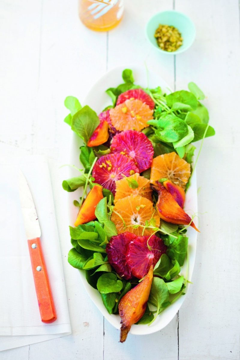 roasted beet orange salad