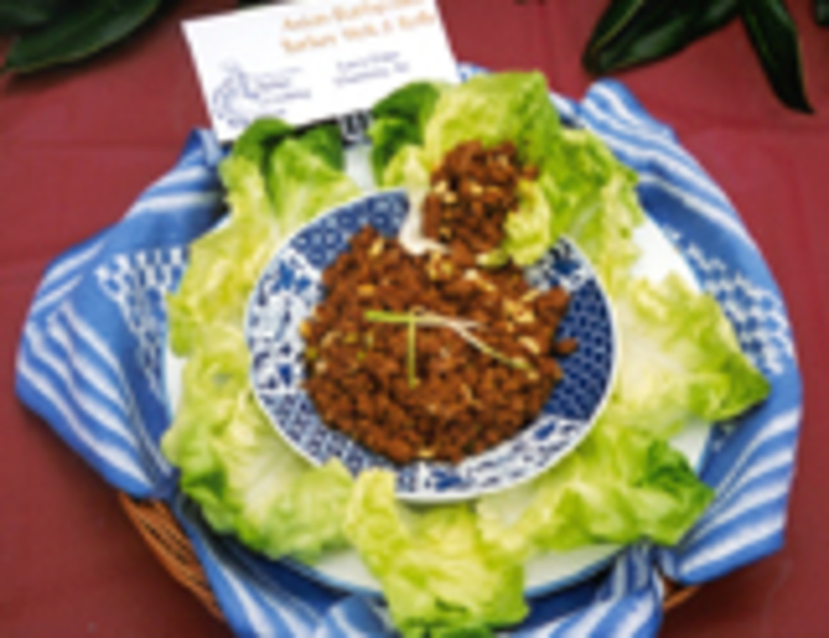 Asian Barbecued Turkey Lettuce Wraps