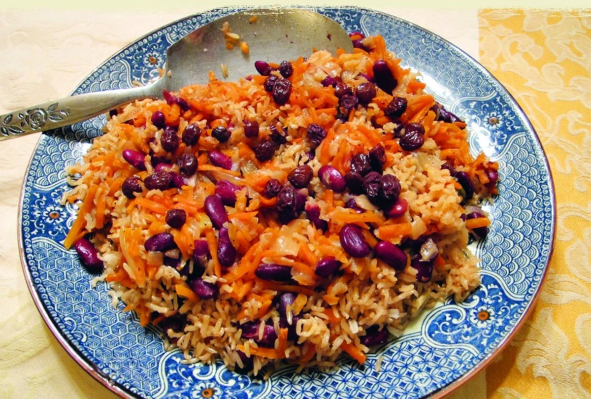 Bukharian Pilaf with Kidney Beans pulah