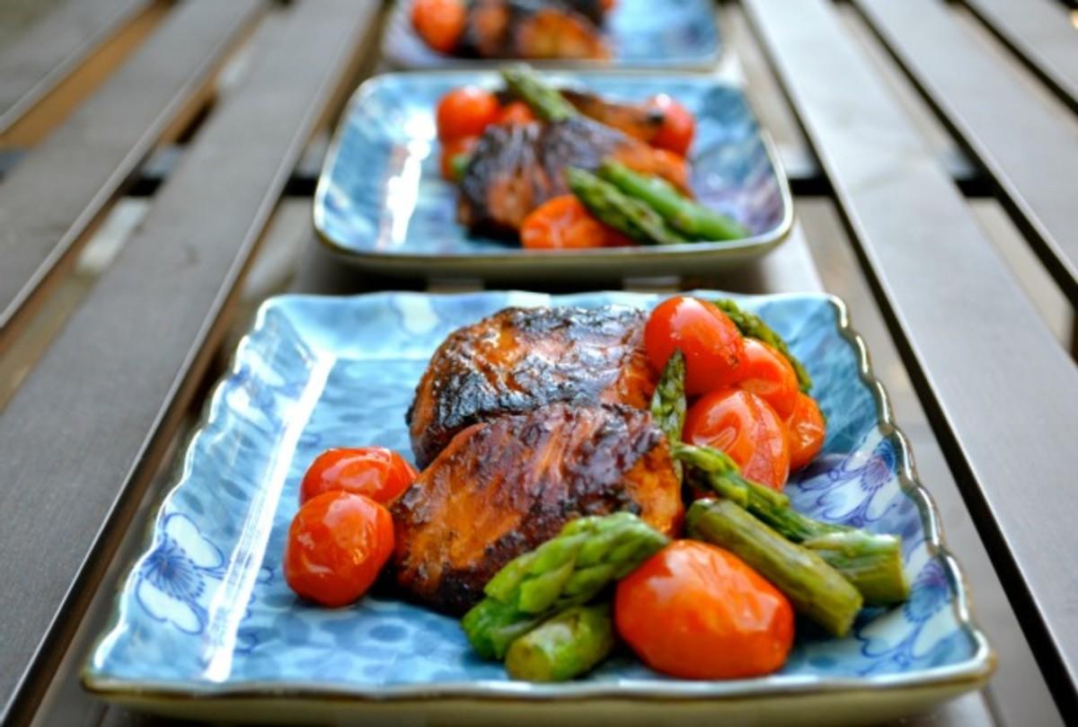 Pan Seared Salmon with Wasabi Sauce