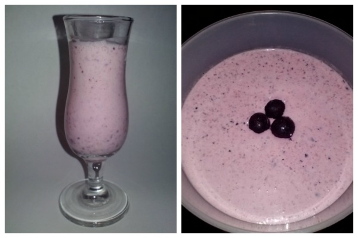coconut berry soup or smoothie