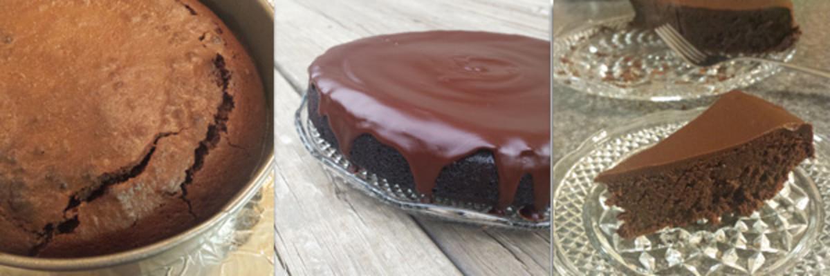Week 21 Flourless Chocolate Cake with glaze 4