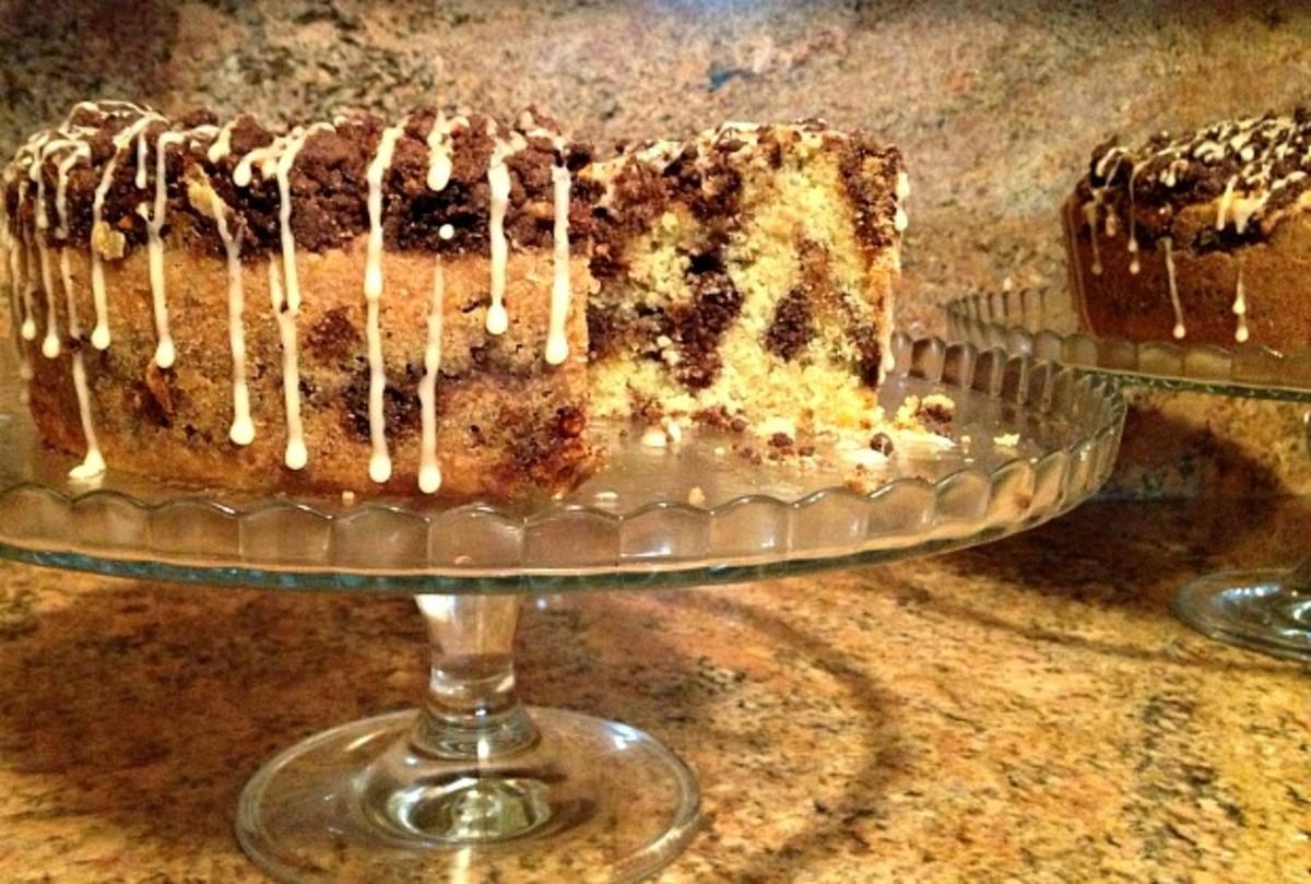 peanut chew vanilla cake
