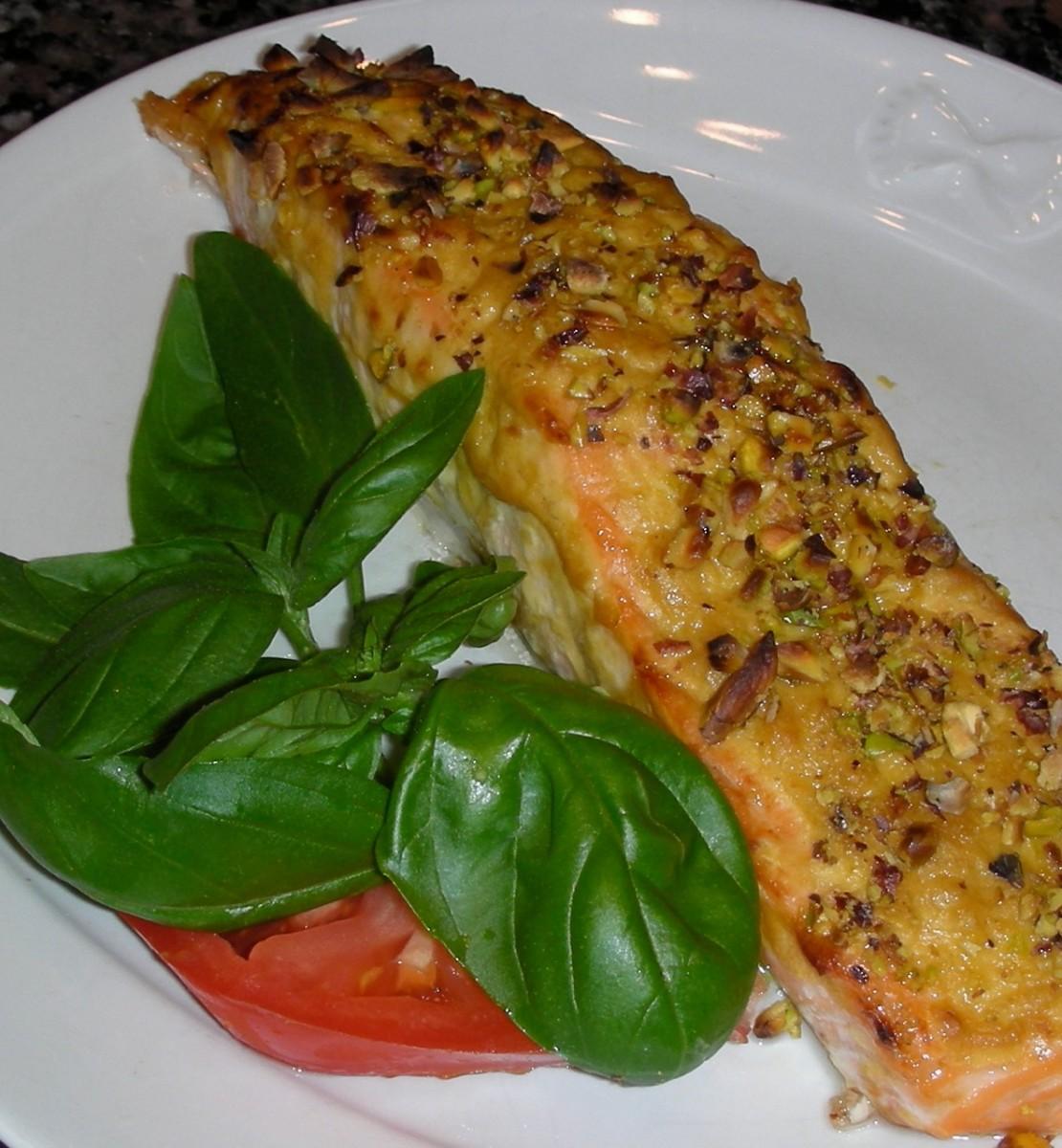 Roasted Pistachio-Crusted Salmon