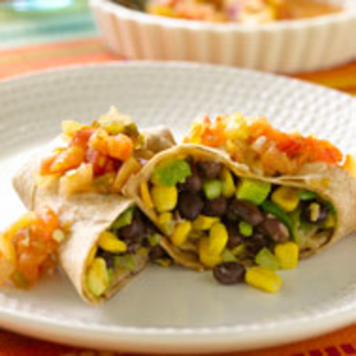 Corn and Black Bean Burritos