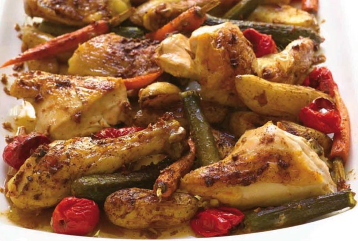 roasted-garlic-chicken-and-baby-vegetables