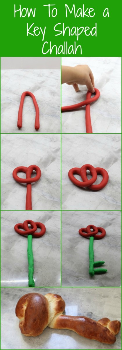 Key shaped challah graphic