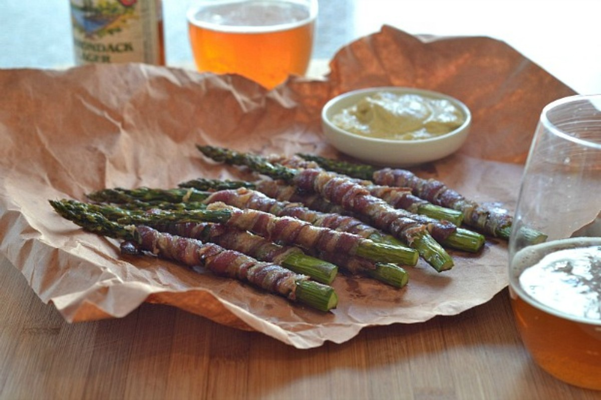 Lamb Bacon Wrapped Asparagus