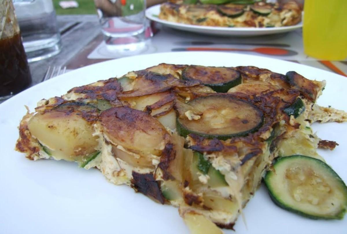 Zucchini and Potato Tortilla85