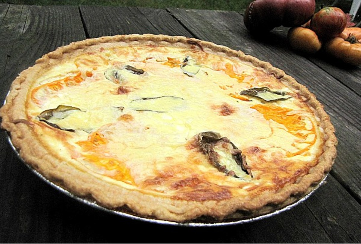 Tomato Basil and Goat Cheese Quiche