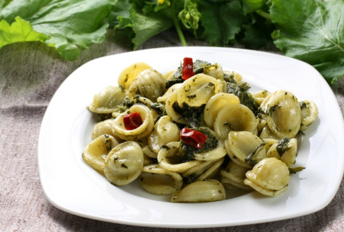 pesto pasta with orchiette