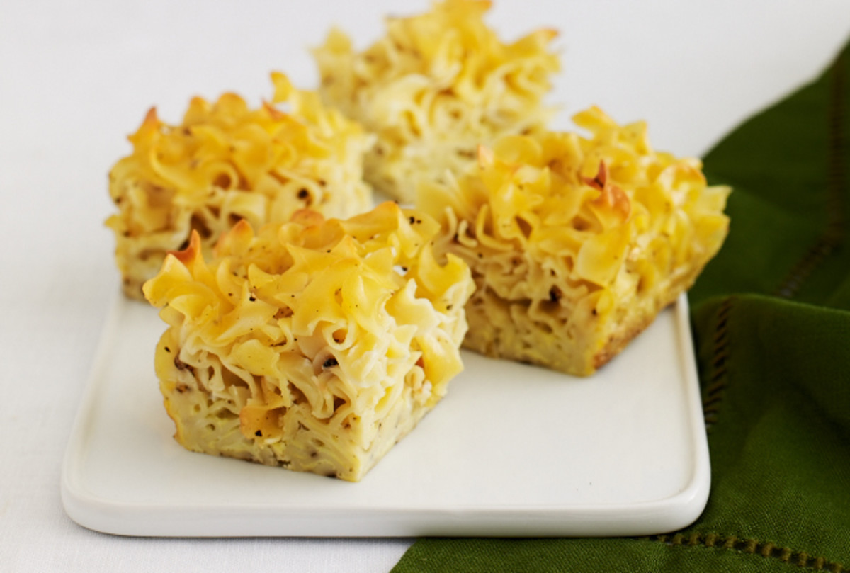 Salt and Pepper Noodle Kugel