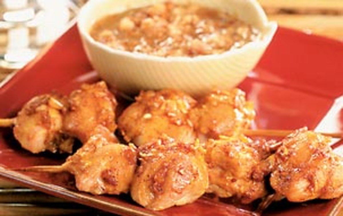 Chicken Satay with Hazelnut Sauce