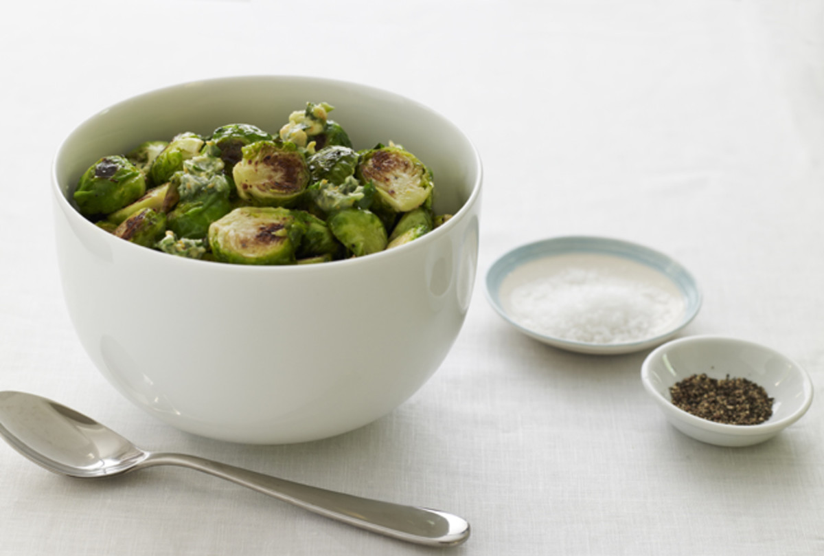Roasted Brussels Sprouts with Herb Butter