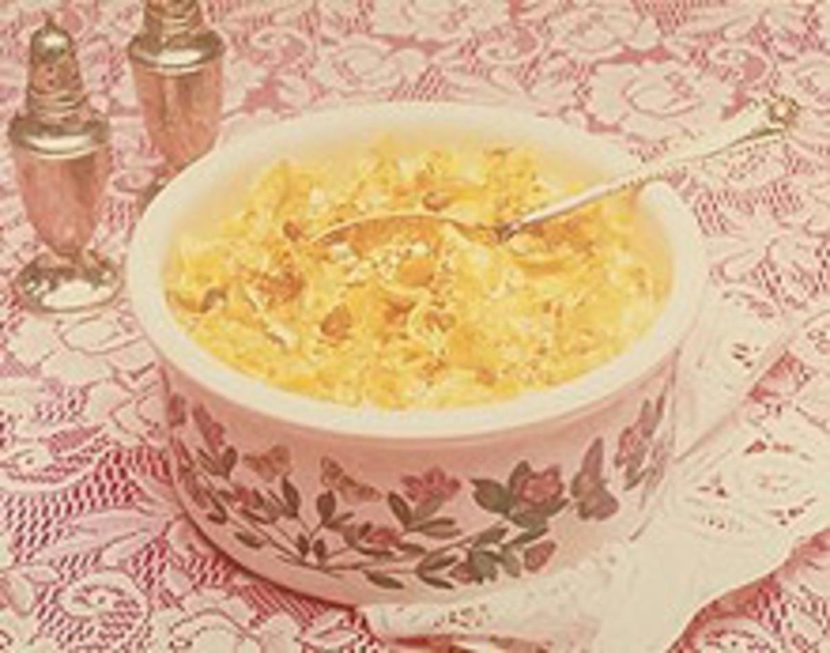 Egg Noodle Bake with Golden Raisins