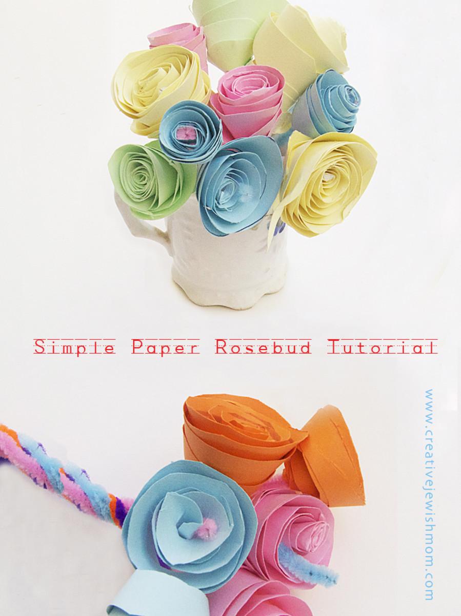 paper rosebud