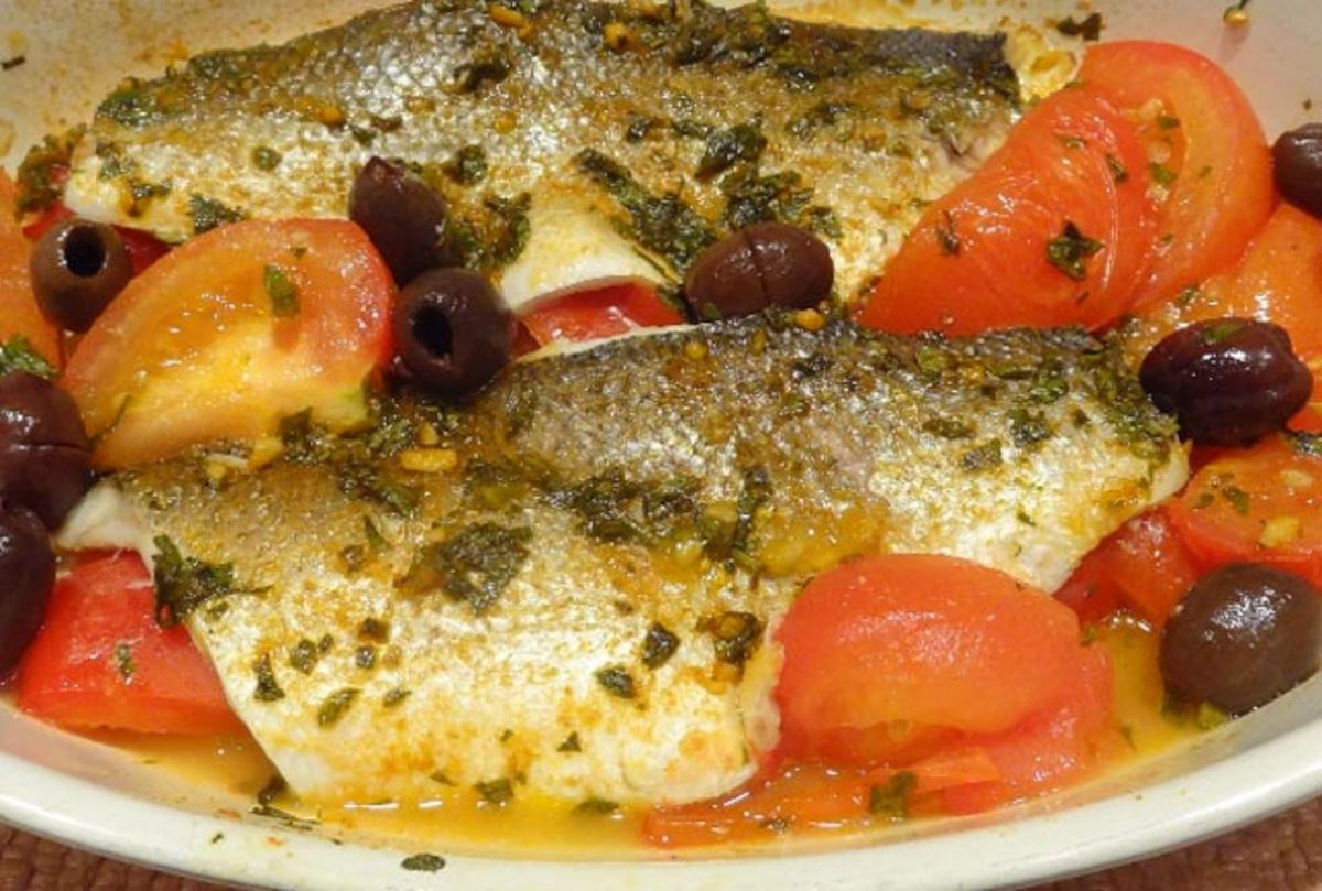 Baked Branzini with Chermoula