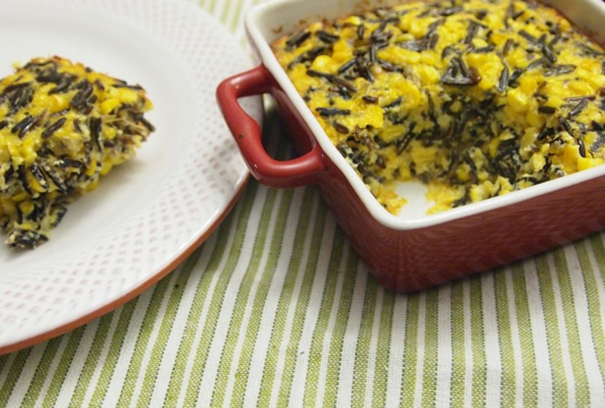 Corn and Wild Rice Kugel