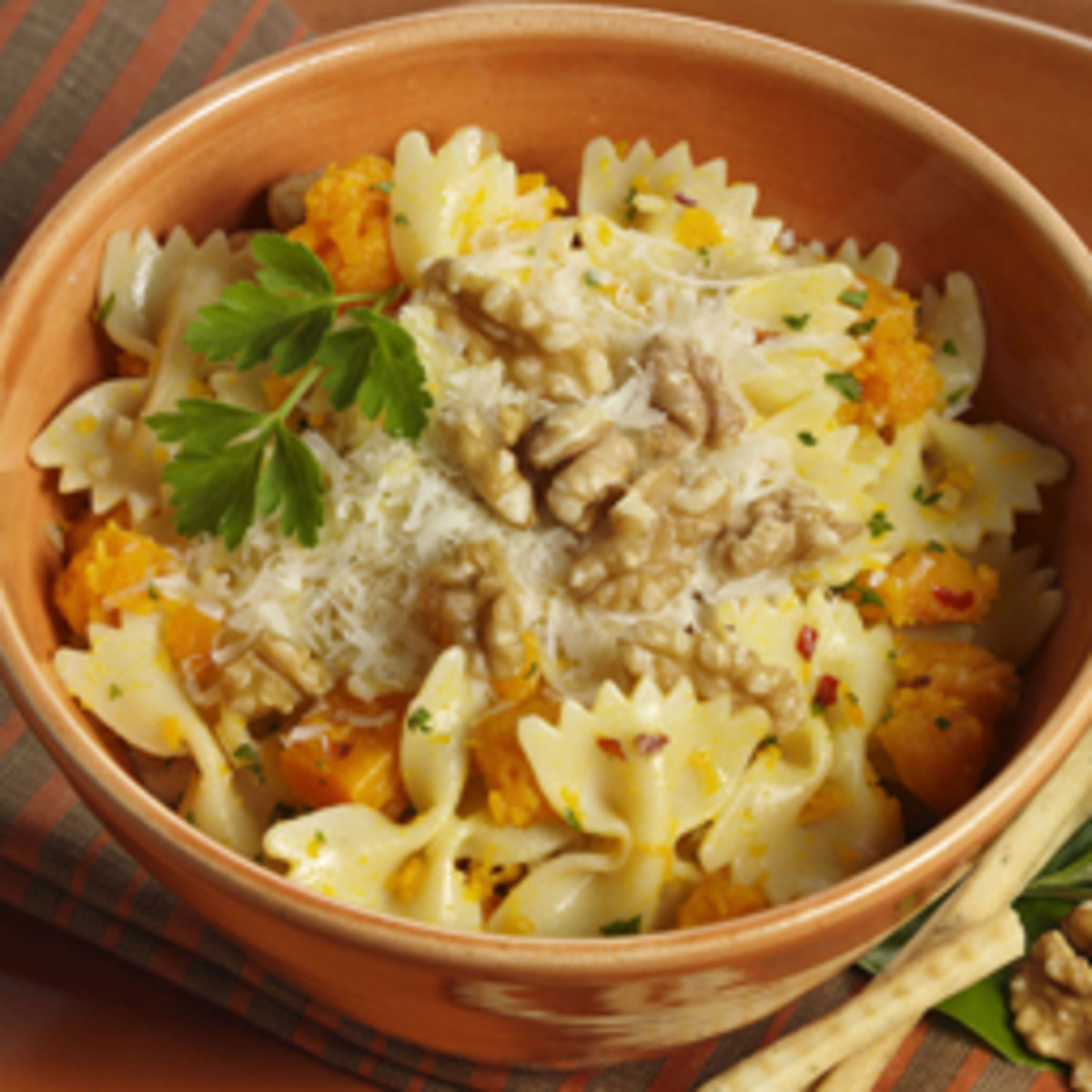 Pasta with Winter Squash & Walnuts