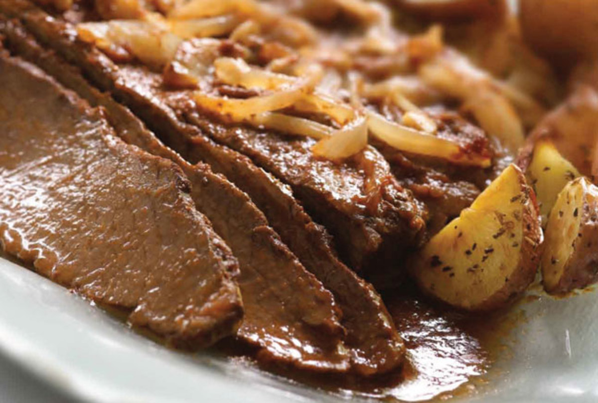 Brisket in Wine Sauce
