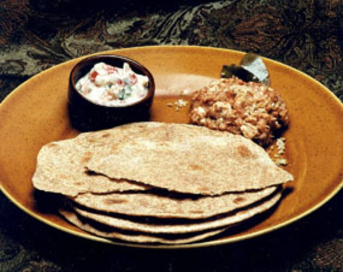 Whole Wheat Chapattis