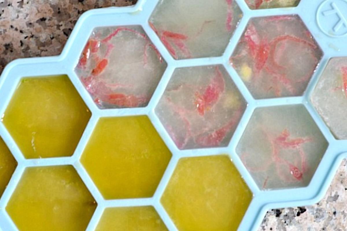 Citrus Flavored Ice Cubes