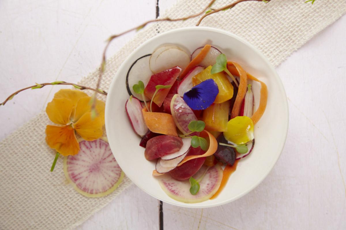bloomin flower salad
