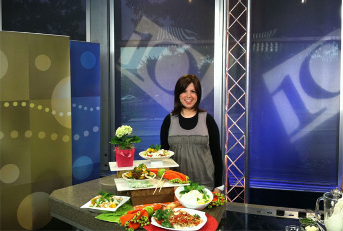 Jamie on the NBC 10! Set