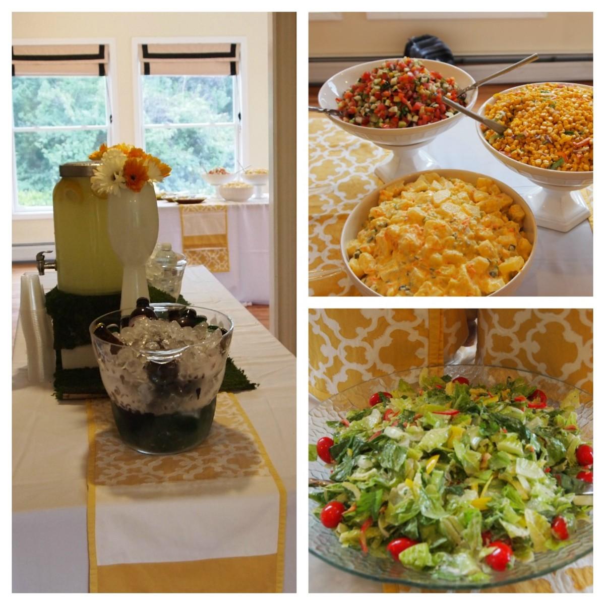 salads collage