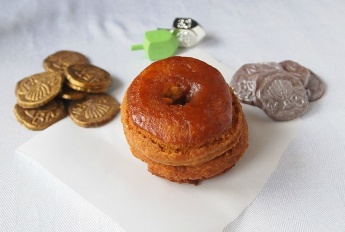 pumpkin donut and chocolate gelt