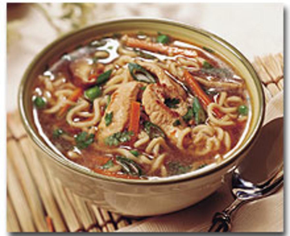 Hot & Sour Turkey Noodle Soup
