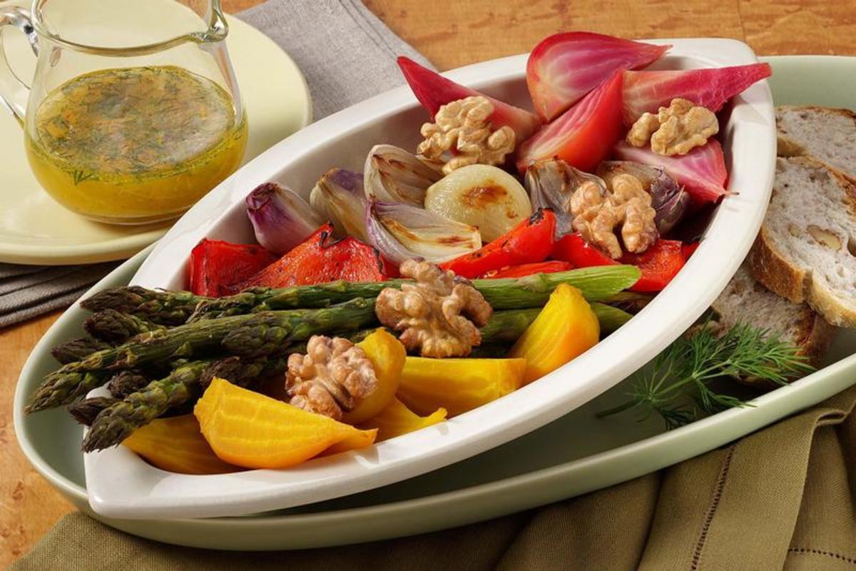 Roasted Vegetable & Walnut Salad