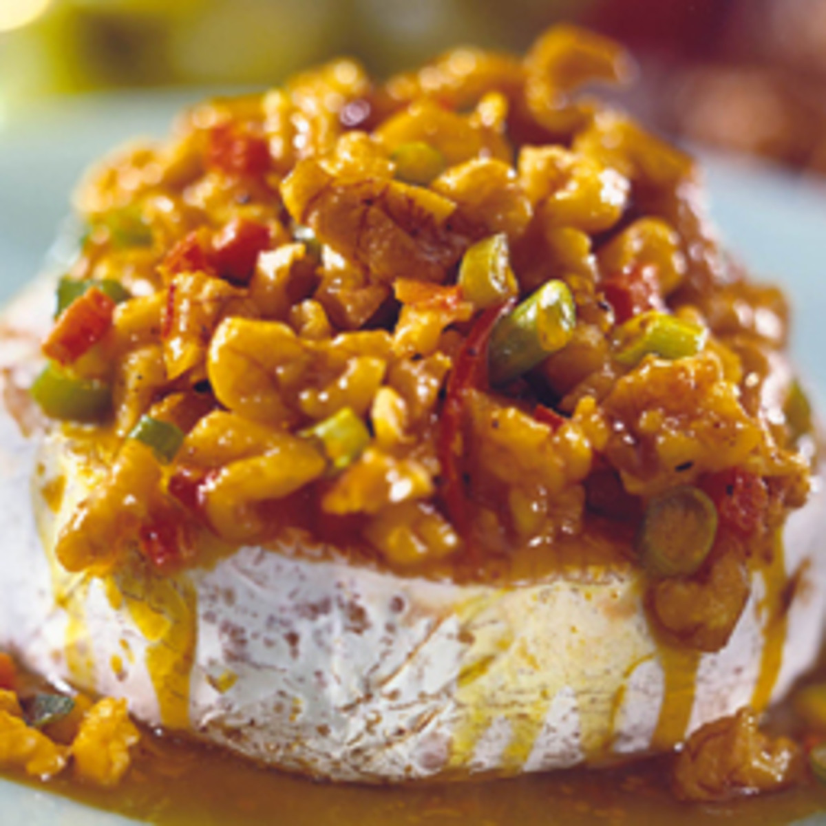 Baked Brie with Curried California Walnuts
