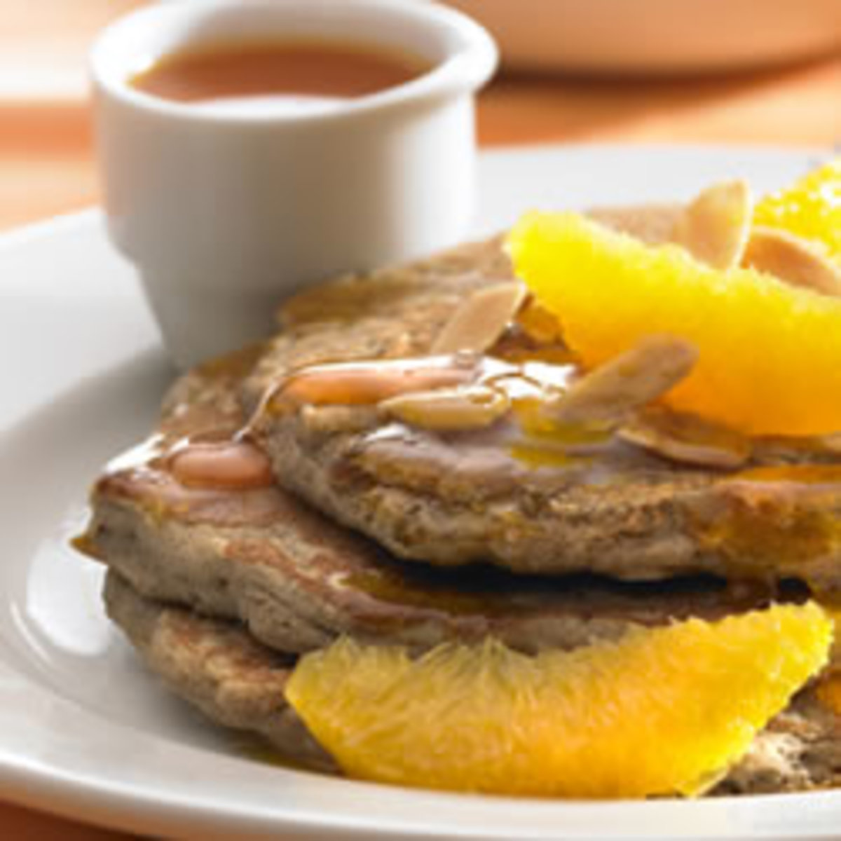 Orange, Almond & Buckwheat Pancakes