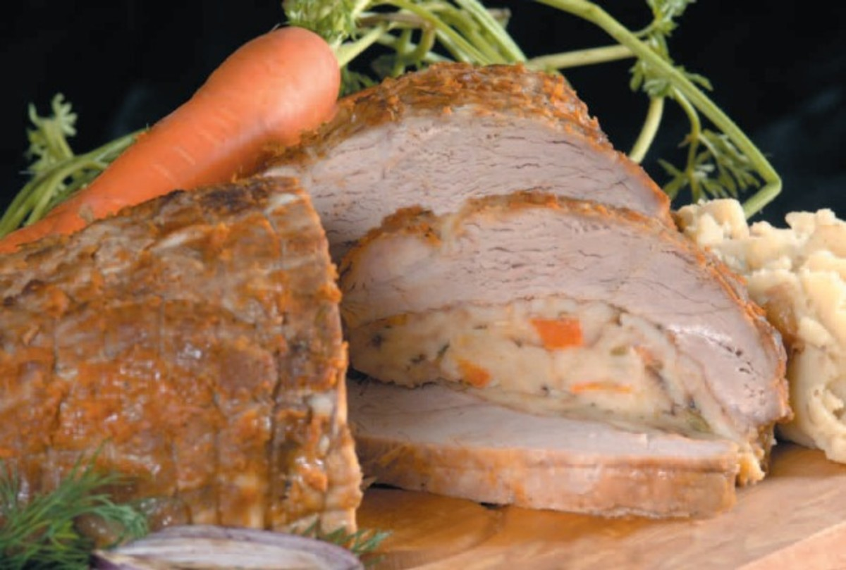 veal breast with matzah stuffing1