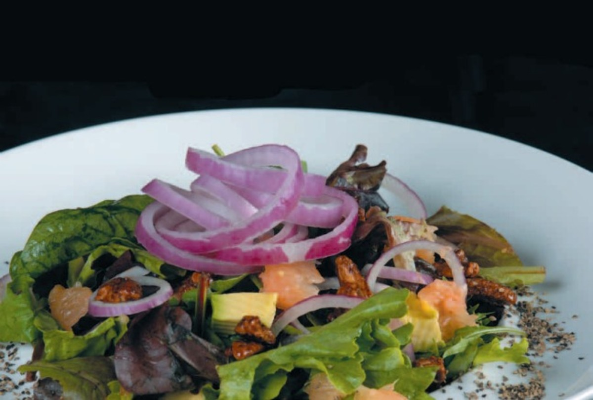 walnut shallot salad
