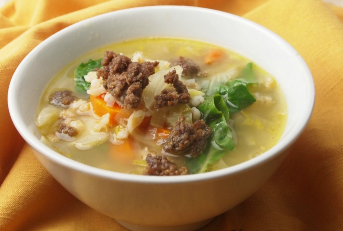 TUSCAN VEGETABLE SOUP WITH BOEREWORS