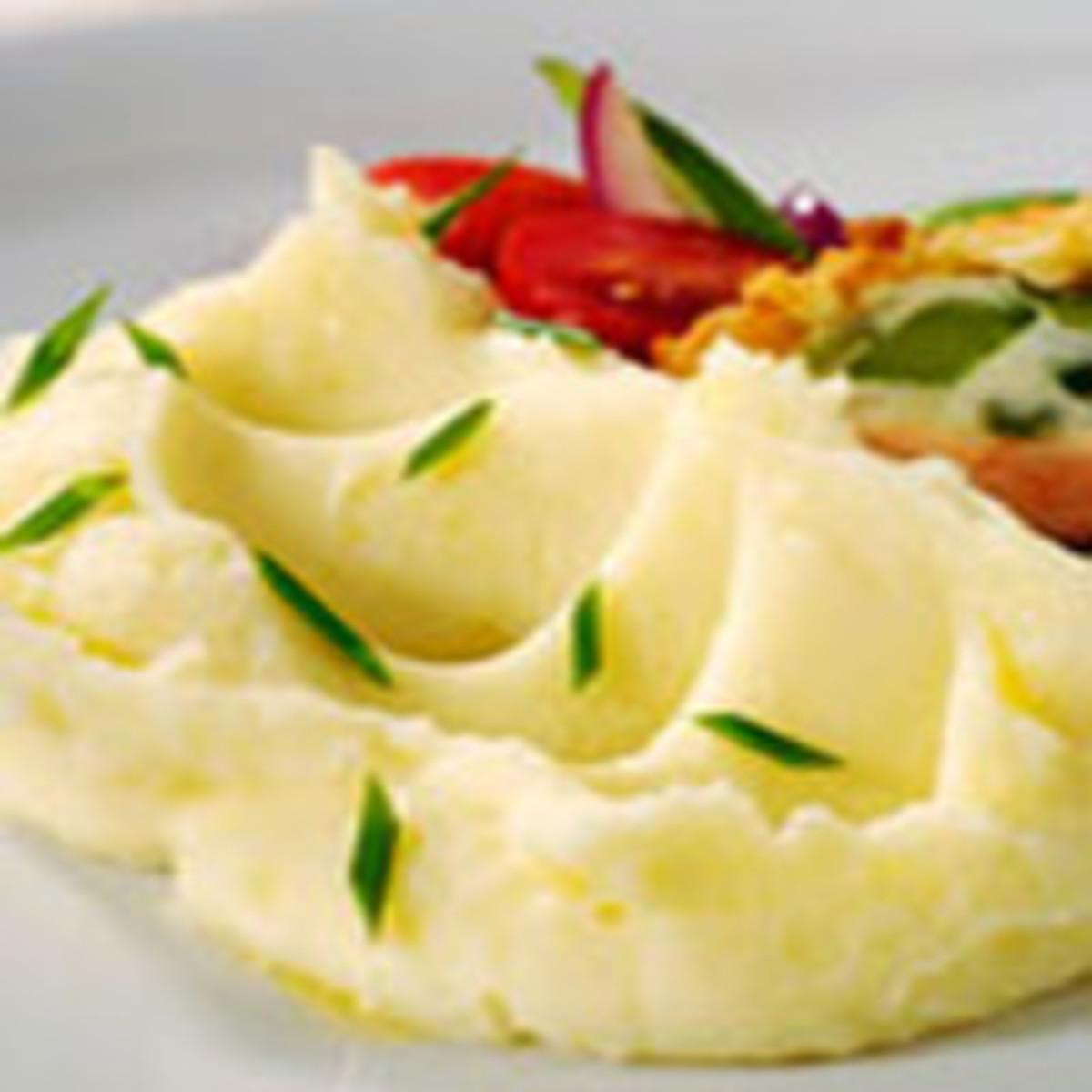 Celery Root, Roasted Garlic Mashed Potatoes
